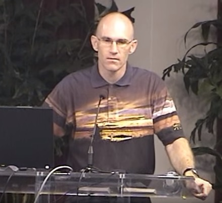 Creation-science lecture by Garth Guessman in 2007