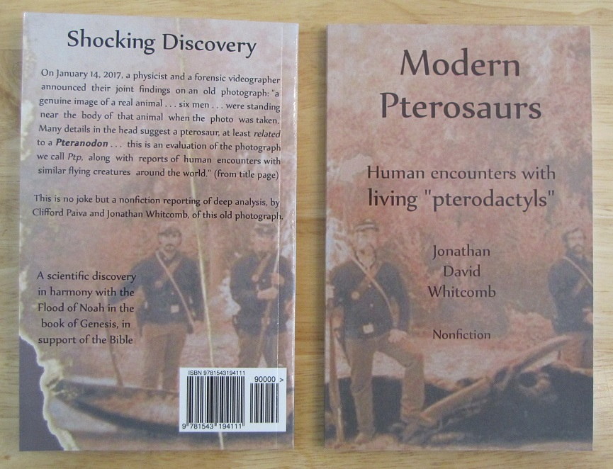 Whitcomb's nonfiction book about an old photo of a pterosaur